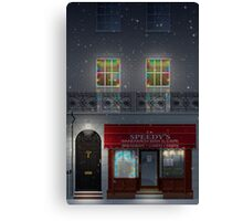 Sherlock Speedy's Cafe christmas Canvas Print