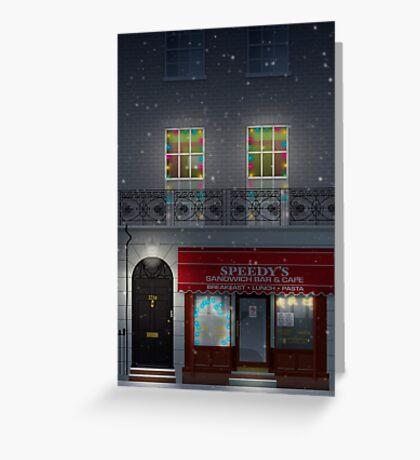 Sherlock Speedy's Cafe christmas Greeting Card