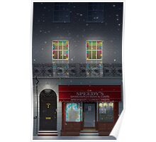 Sherlock Speedy's Cafe christmas Poster