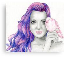 """Pink dove"" Canvas Print"
