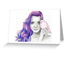 """""""Pink dove"""" Greeting Card"""