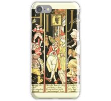 The Mother Hubbard Picture Book by Walter Crane - Plate 54 - The Absurd ABC - H I J iPhone Case/Skin