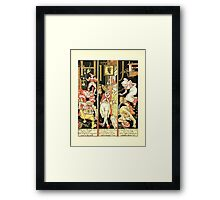 The Mother Hubbard Picture Book by Walter Crane - Plate 54 - The Absurd ABC - H I J Framed Print