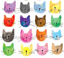 Colourful Kitties by lucylittler
