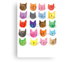 Colourful Kitties Canvas Print