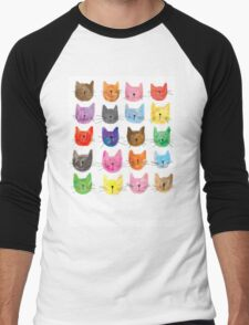 Colourful Kitties Men's Baseball ¾ T-Shirt