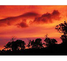 Tangerine Sky ~ unframed Photographic Print