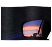 Lion's Sunset Reflections Poster