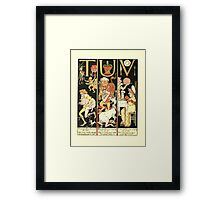 The Mother Hubbard Picture Book by Walter Crane - Plate 62 - The Absurd ABC - T U V Framed Print