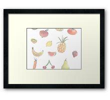 Pale Fruit Framed Print