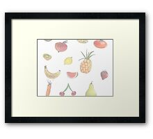 Pale Fruit Framed Print