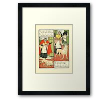 The Mother Hubbard Picture Book by Walter Crane - Plate 13 - Went to the Bakers, Joiners Framed Print
