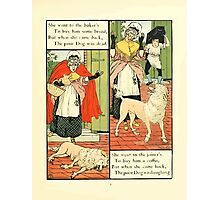 The Mother Hubbard Picture Book by Walter Crane - Plate 13 - Went to the Bakers, Joiners Photographic Print