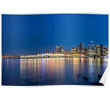 Canada Place at Night Poster