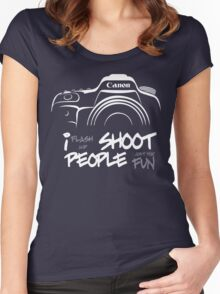 Shoot People for Fun Cartoonist Version (v2) - inverted Women's Fitted Scoop T-Shirt
