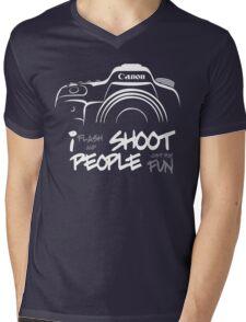 Shoot People for Fun Cartoonist Version (v2) - inverted Mens V-Neck T-Shirt