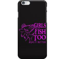 GIRLS FISH TOO - WALLEYE iPhone Case/Skin
