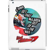 Hilarious Kimi Team Radio - Chinese GP 2015 iPad Case/Skin