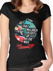 Hilarious Kimi Team Radio - Chinese GP 2015 Women's Fitted Scoop T-Shirt