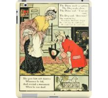 The Mother Hubbard Picture Book by Walter Crane - Plate 25 - Gave Him Rich Dainties, Made A Curtsey, Bow-Wow iPad Case/Skin
