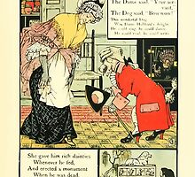 The Mother Hubbard Picture Book by Walter Crane - Plate 25 - Gave Him Rich Dainties, Made A Curtsey, Bow-Wow by wetdryvac