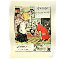 The Mother Hubbard Picture Book by Walter Crane - Plate 25 - Gave Him Rich Dainties, Made A Curtsey, Bow-Wow Poster