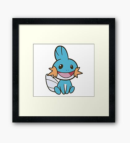 I heard you like Mudkips Framed Print