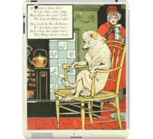 The Mother Hubbard Picture Book by Walter Crane - Plate 16 - Took a Clean Dish, Went to the Ale House iPad Case/Skin