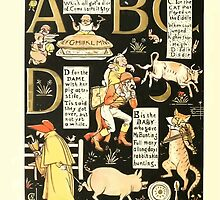 The Mother Hubbard Picture Book by Walter Crane - Plate 50 - The Absurd ABC - A B C D by wetdryvac