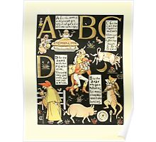 The Mother Hubbard Picture Book by Walter Crane - Plate 50 - The Absurd ABC - A B C D Poster