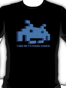 Space Invaders - Take Me To Your Leader - Blue T-Shirt