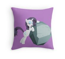 Rarity & Tom Throw Pillow