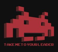 Space Invaders - Take Me To Your Leader - Red by creepingdeath90