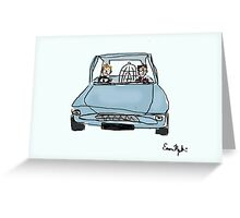 Flying Car Greeting Card