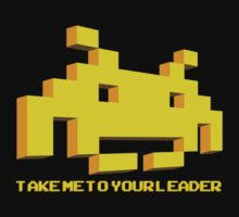 Space Invaders - Take Me To Your Leader - Yellow by creepingdeath90
