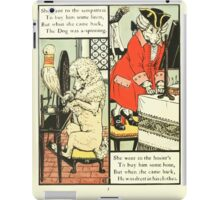 The Mother Hubbard Picture Book by Walter Crane - Plate 24 - Went to the Seamstress, Sempstress, Hosiers iPad Case/Skin