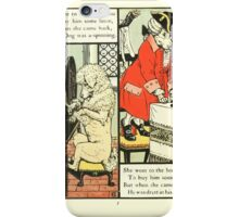 The Mother Hubbard Picture Book by Walter Crane - Plate 24 - Went to the Seamstress, Sempstress, Hosiers iPhone Case/Skin