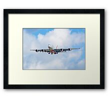 Emirates Airbus A380 Framed Print