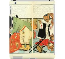 The Mother Hubbard Picture Book by Walter Crane - Plate 38 - Three Bears - Broken Chair iPad Case/Skin