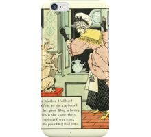 The Mother Hubbard Picture Book by Walter Crane - Plate 12 - Went to the Cupboard iPhone Case/Skin