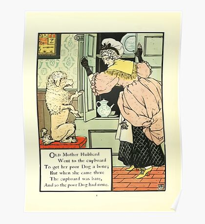 The Mother Hubbard Picture Book by Walter Crane - Plate 12 - Went to the Cupboard Poster