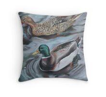 Cup O' Duck Soup Throw Pillow