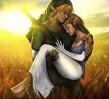 zelda and link by deivid97621