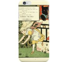 The Mother Hubbard Picture Book by Walter Crane - Plate 45 - Three Bears - Run Away iPhone Case/Skin