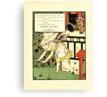 The Mother Hubbard Picture Book by Walter Crane - Plate 45 - Three Bears - Run Away Canvas Print