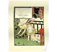The Mother Hubbard Picture Book by Walter Crane - Plate 45 - Three Bears - Run Away Poster