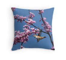 Spring Buzz Throw Pillow