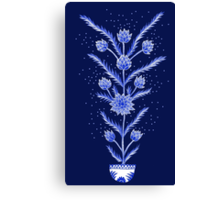 Blue flowers in Chinese vase Canvas Print
