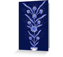 Blue flowers in Chinese vase Greeting Card