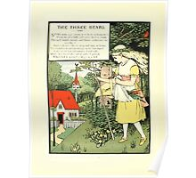 The Mother Hubbard Picture Book by Walter Crane - Plate 32 - Three Bears - Some Time Ago Poster